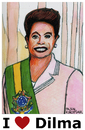 Cartoon: Dilma Rousseff (small) by Pascal Kirchmair tagged dilma,rousseff,karikatur,portrait,caricature,brazil,brasil,brasilien,präsidentin,cartoon,vignetta,justice,amtsenthebung,impeachment
