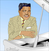 Cartoon: Fats Domino (small) by Pascal Kirchmair tagged fats,domino,caricature,cartoon,karikatur,drawing,dibujo,portrait,retrato,new,orleans,louisiana,desenho,dessin,zeichnung,ritratto,tekening,portret,porträt,cartum,ilustracao,ilustracion,illustration,illustrazione,pascal,kirchmairrock,roll,rhythm,and,blues,piano,boogie,woogie,disegno