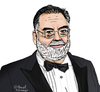 Cartoon: Francis Ford Coppola (small) by Pascal Kirchmair tagged francis,ford,coppola,caricature,karikatur,portrait,cartoon,der,pate,apocalypse,now,godfather
