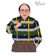 Cartoon: George Costanza (small) by Pascal Kirchmair tagged newyork manhattan upper west side sitcom seinfeld george costanza jason alexander cartoon caricature karikatur ilustracion illustration pascal kirchmair dibujo desenho drawing zeichnung disegno ilustracao illustrazione illustratie dessin de presse du jour art of the day tekening teckning cartum vineta comica vignetta caricatura humor humour political portrait retrato ritratto portret serie series tv