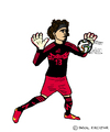 Cartoon: Guillermo Ochoa (small) by Pascal Kirchmair tagged goaltender,goalkeeper,guillermo,ochoa,torwart,goalie,mexico,mexiko,cartoon,caricature,karikatur,football,soccer,fußball,futebol,futbol,foot