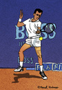 Cartoon: Guy Forget (small) by Pascal Kirchmair tagged guy,forget,tennis,player,cartoon,vignetta,dessin,illustration,caricature,karikatur,tenis,tenista,atp,french,open,roland,garros,france,frankreich,capitaine,coupe,davis