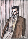 Cartoon: Helmut Dietl (small) by Pascal Kirchmair tagged helmut,dietl,karikatur,aquarell,cartoon,portrait,caricature