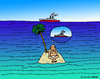 Cartoon: Die verpasste Chance (small) by Pascal Kirchmair tagged robinson,crusoe,insel,stranded,schiff,ship,gestrandet,isle,ile,island,hope,hoffnung
