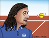 Cartoon: Ilie Nastase (small) by Pascal Kirchmair tagged ilie nastase caricature karikatur cartoon portrait tennis dessin drawing zeichnung rumänien romania