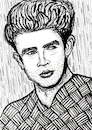 Cartoon: James Dean (small) by Pascal Kirchmair tagged actors,studio,lee,strasberg,james,dean,east,of,eden,indiana,manhattan,new,york,upper,side,academy,awards,oscar,oscars,author,autor,autore,auteur,filmmaker,artist,art,hollywood,illustration,drawing,zeichnung,pascal,kirchmair,cartoon,caricature,karikatur,ilustracion,dibujo,desenho,ink,disegno,ilustracao,illustrazione,illustratie,dessin,de,presse,du,jour,the,day,tekening,teckning,cartum,vineta,comica,vignetta,caricatura,portrait,porträt,portret,retrato,ritratto,actor,acting,schauspieler,rebell,rebel,without,cause,clue,giant