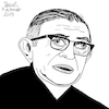 Cartoon: Jean-Paul Sartre (small) by Pascal Kirchmair tagged jean,paul,sartre,illustration,drawing,zeichnung,pascal,kirchmair,cartoon,caricature,karikatur,ilustracion,dibujo,desenho,ink,disegno,ilustracao,illustrazione,illustratie,dessin,de,presse,du,jour,art,of,the,day,tekening,teckning,cartum,vineta,comica,vignetta,caricatura,portrait,retrato,ritratto,portret,kunst,writer,author,autor,autore,auteur,schriftsteller,literature,literatur,philosophe,philosophy,philosopher,philosophie,paris,france,communism,marxism,socialist,socialism,politics,simone,beauvoir,frankreich,francia,parigi