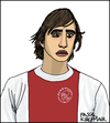 Cartoon: Johan Cruyff (small) by Pascal Kirchmair tagged 14,johan,cruyff,portrait,caricature,karikatur,cartoon,ajax,amsterdam
