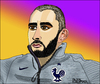 Cartoon: Karim Benzema (small) by Pascal Kirchmair tagged karim,benzema,caricature,karikatur,dessin,cartoon,portrait