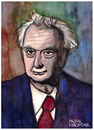 Cartoon: Karl Jaspers (small) by Pascal Kirchmair tagged karl,jaspers,portrait,caricature,karikatur,psychiater,philosoph,existenzphilosophie,zeichnung,drawing,dessin,dibujo,disegno,desenho,illustration,watercolour,aquarell