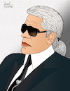 Cartoon: Karl Lagerfeld (small) by Pascal Kirchmair tagged modezar zar kaiser trend fashion victim modelabel karlikaturen coco chanel fendi karl lagerfeld dibuix illustration drawing zeichnung pascal kirchmair cartoon caricature karikatur ilustracion dibujo desenho ink disegno ilustracao illustrazione illustratie dessin de presse du jour art of the day tekening teckning cartum vineta comica vignetta caricatura portrait porträt portret retrato ritratto choupette karlikatur kent kentkragen spread collar