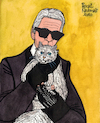 Cartoon: Karl Lagerfeld and Choupette (small) by Pascal Kirchmair tagged monster,monsterchoupette,choupette,coco,chanel,fashion,mode,label,moda,vogue,cats,katzen,gatos,gatti,chats,humour,umorismo,humorous,spirito,humor,karl,lagerfeld,illustration,drawing,zeichnung,pascal,kirchmair,political,cartoon,caricature,karikatur,ilustracion,dibujo,desenho,ink,disegno,ilustracao,illustrazione,illustratie,dessin,de,presse,tekening,teckning,cartum,vineta,comica,vignetta,caricatura