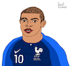 Cartoon: Kylian Mbappe (small) by Pascal Kirchmair tagged kylian mbappe cartoon caricature karikatur ilustracion illustration pascal kirchmair desenho drawing zeichnung dibujo disegno ilustracao illustrazione illustratie dessin de presse du jour art of the day tekening teckning cartum vineta comica vignetta caricatura humor humour portrait retrato ritratto portret porträt artiste artista artist künstler paris france psg saint germain weltmeister world cup 2018 russia champion monde foot football futebol futbol soccer
