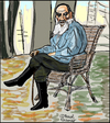 Cartoon: Leo Tolstoi (small) by Pascal Kirchmair tagged leo,lew,tolstoi,tolstoy,caricature,karikatur,portrait,dessin,drawing,zeichnung,russia,russie,rußland