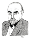 Cartoon: Luigi Pirandello (small) by Pascal Kirchmair tagged luigi,pirandello,il,fu,mattia,pascal,nobel,prize,nobelpreis,prix,premio,absurdes,theater,theatre,absurd,literatur,literature,schriftsteller,author,autor,autore,auteur,writer,illustration,ink,drawing,tusche,tuschezeichnung,zeichnung,kirchmair,cartoon,caricature,karikatur,ilustracion,dibujo,desenho,disegno,ilustracao,illustrazione,illustratie,dessin,de,presse,du,jour,art,of,the,day,tekening,teckning,cartum,vineta,comica,vignetta,caricatura,portrait,porträt,portret,retrato,ritratto
