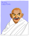 Cartoon: Mahatma Gandhi (small) by Pascal Kirchmair tagged desenho,dessin,disegno,zeichnung,porträt,mahatma,gandhi,cartoon,caricature,karikatur,dibujo,drawing,retrato,portrait,pascal,kirchmair,vignetta,ritratto,india,indien,asket,pazifistischer,widerstand,nonviolent,civil,pacifist