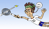 Cartoon: Matchball (small) by Pascal Kirchmair tagged tennis,ballsport,john,mcenroe,big,mac,wimbledon,matchball,grand,slam,roland,garros,australian,us,open