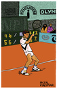 Cartoon: Michael Chang (small) by Pascal Kirchmair tagged french,open,roland,garros,michael,chang,cartoon,karikatur,tennis,caricature,illustration,tenis,vignetta,disegno,dibujo,dessin,zeichnung,desenho,drawing