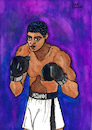 Cartoon: Muhammad Ali (small) by Pascal Kirchmair tagged world,heavyweight,champion,the,greatest,of,all,time,boxer,cassius,clay,muhammad,ali,illustration,drawing,zeichnung,pascal,kirchmair,cartoon,caricature,karikatur,ilustracion,dibujo,desenho,ink,disegno,ilustracao,illustrazione,illustratie,dessin,de,presse,du,jour,art,day,tekening,teckning,cartum,vineta,comica,vignetta,caricatura,portrait,retrato,ritratto,portret,painting,watercolor,watercolour,arte,aquarell