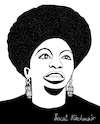 Cartoon: Nina Simone (small) by Pascal Kirchmair tagged usa nina simone singer songwriter civil rights movement jazz rhythm and blues rnb folk gospel pop cartoon caricature karikatur ilustracion illustration pascal kirchmair dibujo desenho drawing zeichnung disegno ilustracao illustrazione illustratie dessin de presse du jour art of the day tekening teckning cartum vineta comica vignetta caricatura humor humour political portrait retrato ritratto portret chan porträt artiste artista artist pianistin pianist pianista tryon north carolina carry le rouet soul