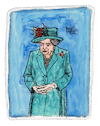 Cartoon: Queen Elizabeth II (small) by Pascal Kirchmair tagged queen,elizabeth,ii,windsor,castle,windsors,cartoon,caricature,karikatur,ilustracion,illustration,pascal,kirchmair,dibujo,desenho,drawing,zeichnung,disegno,ilustracao,illustrazione,illustratie,dessin,de,presse,du,jour,art,of,the,day,tekening,teckning,cartum,vineta,comica,vignetta,caricatura,humor,humour,portrait,retrato,ritratto,portret,porträt,england,united,kingdom,great,little,britain,großbritannien