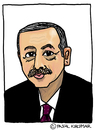 Cartoon: Recep Tayyip Erdogan (small) by Pascal Kirchmair tagged recep,tayyip,erdogan,caricature,karikatur,cartoon,portrait