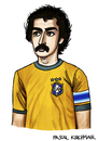 Cartoon: Roberto Rivelino (small) by Pascal Kirchmair tagged roberto,rivelino,brasilien,weltmeister,caricature,cartoon,karikatur,brasilianischer,fußball,1970