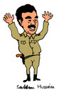 Cartoon: Saddam Hussein (small) by Pascal Kirchmair tagged saddam hussein irak bagdad diktator machthaber iraq usa dictator dictateur