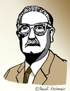 Cartoon: Salvador Allende (small) by Pascal Kirchmair tagged salvador,allende,portrait,caricature,karikatur,cartoon,vignetta,chile,presidente,präsident,heroe,revolucion,socialista