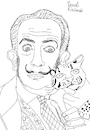 Cartoon: Salvador Dali with ocelot (small) by Pascal Kirchmair tagged ocelot ocelote ozelot salvador dali marquis marques de pubol cartoon caricature karikatur drawing zeichnung illustration illustrazione pascal kirchmair ilustracion portrait retrato dibujo desenho ritratto disegno ilustracao illustratie dessin du jour art of the day tekening teckning cartum vineta comica vignetta caricatura artist artista artiste kunst künstler maler painter peintre pintor pittore wacom cintiq 21 ux digital