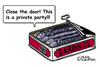 Cartoon: Sardines in a can (small) by Pascal Kirchmair tagged sardinen sardines cartoon caricature karikatur humor büchse can tin boite humour