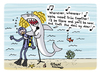 Cartoon: Sharkira (small) by Pascal Kirchmair tagged sharkira,shark,shakira,cartoon,caricature,karikatur,humor,humour
