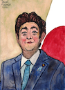 Cartoon: Shinzo Abe (small) by Pascal Kirchmair tagged japan,shinzo,abe,illustration,drawing,zeichnung,pascal,kirchmair,political,cartoon,caricature,karikatur,ilustracion,dibujo,desenho,ink,disegno,ilustracao,illustrazione,illustratie,dessin,de,presse,du,jour,art,of,the,day,tekening,teckning,cartum,vineta,comica,vignetta,caricatura,portrait,retrato,ritratto,portret,kunst,politiker,politician,politics,prime,minister,premier,premierminister,watercolor,watercolour,aquarell