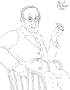 Cartoon: Sigmund Freud (small) by Pascal Kirchmair tagged sigmund,freud,psicoanalisi,analisi,psychanalyse,psicoanalisis,psychoanalysis,psychoanalyse,author,autor,autore,auteur,illustration,drawing,zeichnung,pascal,kirchmair,cartoon,caricature,karikatur,ilustracion,dibujo,desenho,ink,disegno,ilustracao,illustrazione,illustratie,dessin,de,presse,du,jour,art,of,the,day,tekening,teckning,cartum,vineta,comica,vignetta,caricatura,portrait,porträt,portret,retrato,ritratto,wien,austria,österreich,habsburger,monarchie,vienne,vienna,autriche