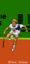 Cartoon: Stefan Edberg (small) by Pascal Kirchmair tagged stefan,edberg,tennis,player,spieler,västervik,cartoon,caricature,karikatur,dessin,wimbledon,roger,federer,trainer,coach