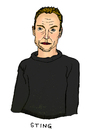 Cartoon: Sting (small) by Pascal Kirchmair tagged band,singer,sänger,pop,songwriter,gordon,sumner,the,police,sting,karikatur,caricature