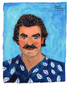 Cartoon: Thomas Magnum (small) by Pascal Kirchmair tagged thomas,sullivan,magnum,tom,selleck,hawaii,private,investigator,tv,television,series,illustration,drawing,zeichnung,pascal,kirchmair,irische,impressionen,cartoon,caricature,karikatur,ilustracion,dibujo,desenho,ink,disegno,ilustracao,illustrazione,illustratie,dessin,de,presse,du,jour,art,of,the,day,tekening,teckning,cartum,vineta,comica,vignetta,caricatura,portrait,retrato,ritratto,portret,aquarelle,watercolor,watercolour,acquarello,acuarela,aguarela,aquarela