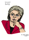 Cartoon: Viviane Reding (small) by Pascal Kirchmair tagged letzebuerg,politikerin,luxemburg,luxembourg,european,commissioner,viviane,reding,caricature,karikatur,cartoon,vignetta,eu,ue,justice,kommissarin,justiz,politician