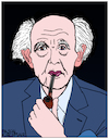 Cartoon: Zygmunt Bauman (small) by Pascal Kirchmair tagged zygmunt,bauman,caricature,karikatur,cartoon,portrait,retrato,ritratto,drawing,dibujo,desenho,disegno,dessin,zeichnung,illustration,pascal,kirchmair