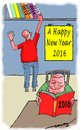 Cartoon: A Happy new Year 2016 to all (small) by kar2nist tagged greetings,2016,new,year