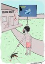 Cartoon: Blood Donation Day (small) by kar2nist tagged blood,donation,world,mosquito