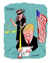 Cartoon: Stumped (small) by kar2nist tagged trump,ordinances,court,stay