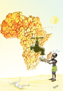 Cartoon: secheresse en afrique (small) by Majdoub Abdelwaheb tagged afrique