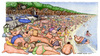 Cartoon: Carnaio (small) by Niessen tagged italy,summer,sea,meat,fat,people,beach,crowd,italien,sommer,fleisch,strand,fett,voll,italia,spiaggia,carne,estate,grasso