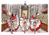 Cartoon: Gay pride in Vaticano (small) by Niessen tagged san,pietro,ballare,can,preti,gay,dance,priests,tanzen,priester,homosexuell