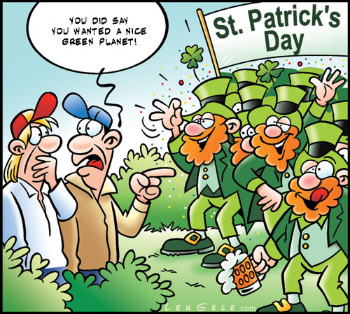Cartoon: Saint Patrick s day (medium) by Carayboo tagged saint,patrick,holiday,parade,kid,history,st,day,green,environment,nature,religion