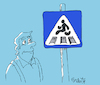 Cartoon: road sign (small) by mitya_kononov tagged mityacartoon