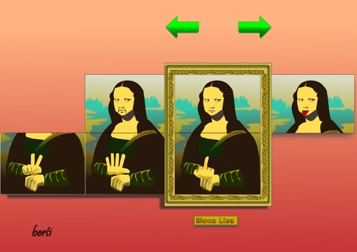 Cartoon: Mona-Slider (medium) by berti tagged inkscape,slide,change,schiebebild,lisa,mona