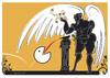 Cartoon: PacWine (small) by Herme tagged pacman wine icarus