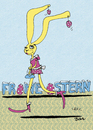 Cartoon: Osterschmuck (small) by BiSch tagged ostern,ohrring,hase,bunny,osterschmuck
